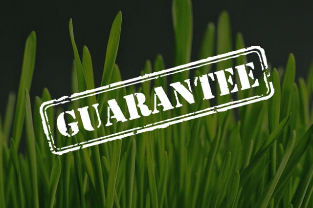 8 YEAR GUARANTEE ON ALL FAKE GRASS INSTALLATIONS