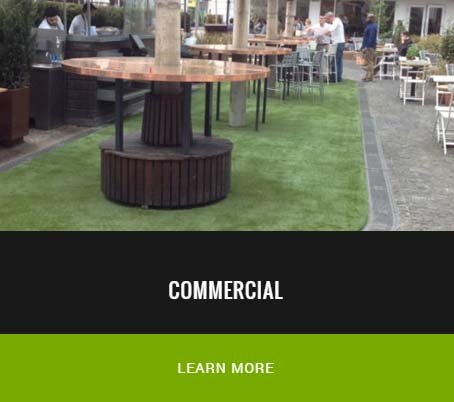 commercial artificial grass in restaurant