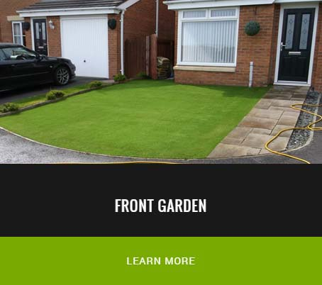 front garden grass replaced with artificial turf